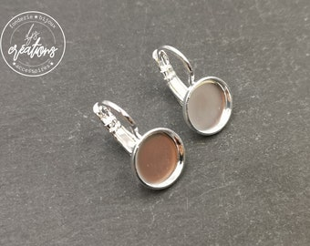 Earrings with sleepers - brass silver finish 925
