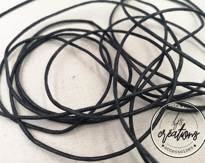 3m waxed cotton cord - Black