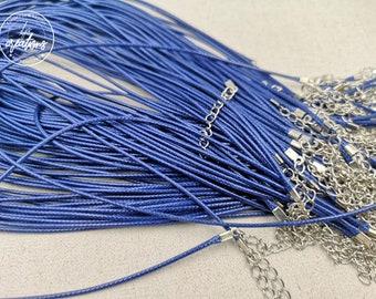 """1 round of neck in cotton """"navy blue"""" 2mm"""