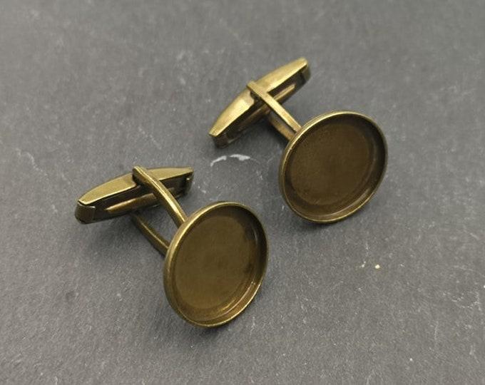 Cufflinks - 15x1.5mm - Brass brass finish Brass
