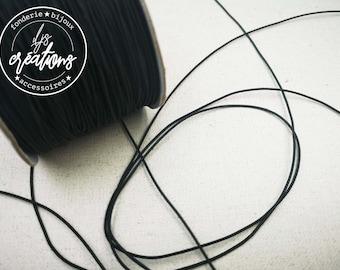 6m de cordon élastique ø1mm - Noir
