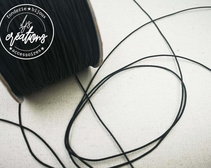 6m elastic cord - Black