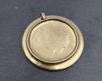 Large pendant round o58mm with o46mm Tin finish brass Bowl
