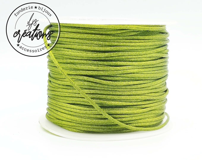 3m string mouse tail - Olive Green