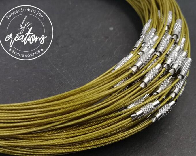 "1 neck neck cable ""Green/kaki"" - 45cm"