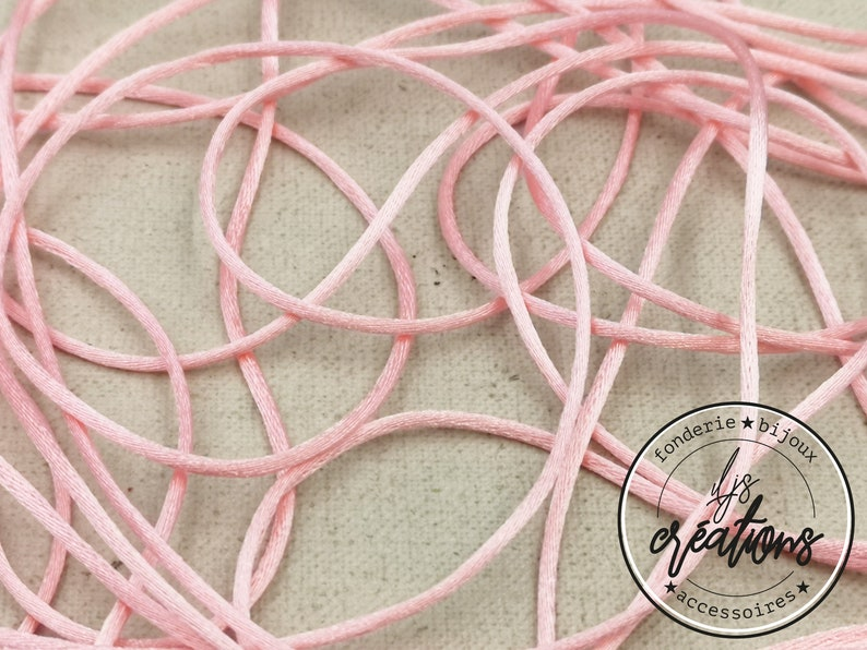 frilly mark Reel end 3.5m of mouse tail cord Light pink 1.5mm
