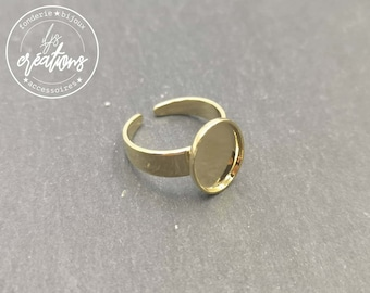 8x10X1.5mm gold finish oval child ring