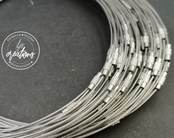 """1 round of cable neck """"light grey"""" - 45cm"""