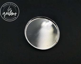 Round brooch - 45x2.5mm brass finish silver 925