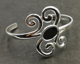End of stock - Bracelet holder with an oval bowl 10x14mm - Silver Metal