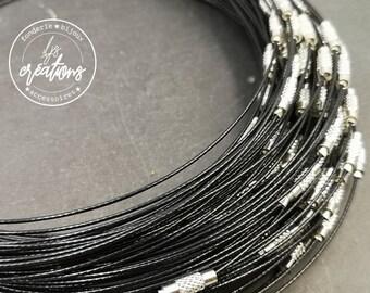 """1 neck neck cable """"NOIR"""" - 45cm"""