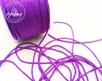 """4m braided cord 2 strands rope type """"Violet"""" - 1.5mm"""