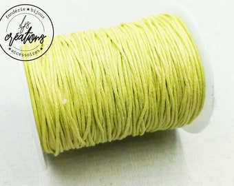 10m waxed cotton cord - Yellow