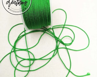"""4m braided cord 2 strands type """"Green"""" string - 1.5mm"""