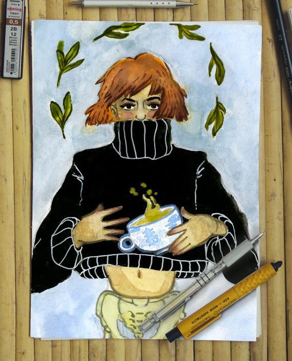 Young Thug 5x7 watercolor POSTCARD