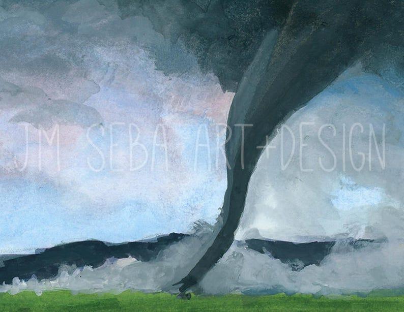 Tornado 5x7 watercolor POSTCARD