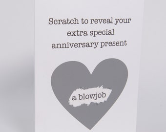 Funny Anniversary Scratch Off Card For Husband Boyfriend Dirty Naughty