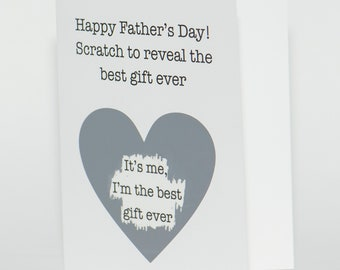 6d56d1ee funny fathers day scratch off card, fathers day gift for dad, fathers day  gift from daughter, funny card for dad, sarcastic gift idea