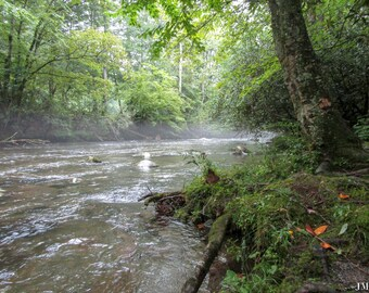 Steam Rising From Pigeon River Nature Photography Print