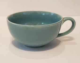 Vintage Turquoise Tea Cup