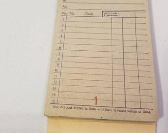 Vintage Unused Carbon Receipt Book