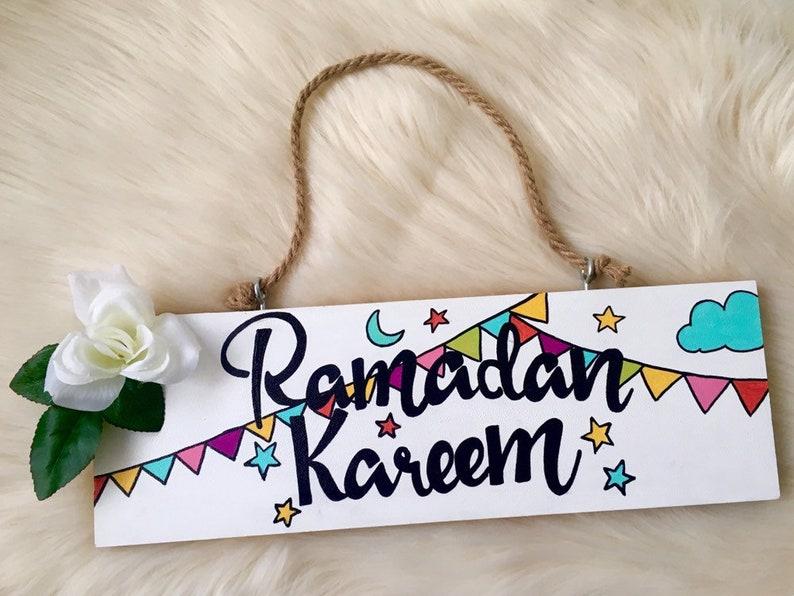 Double-sided sign Ramadan Kareem and EID Mubarak image 0