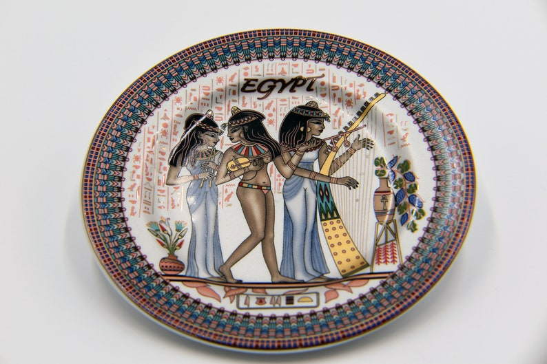 Egyptian Decorative Plate 16 cm / 6.25'' Inch with 5 image 0