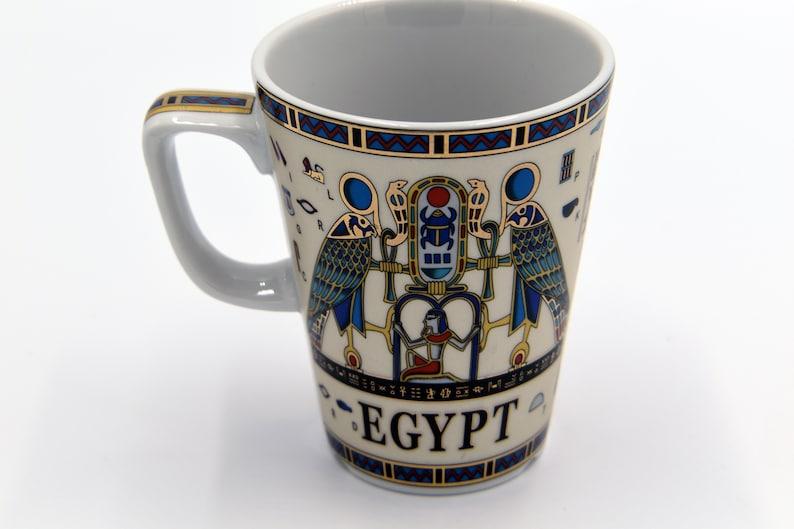 Egyptian Coffee Mug with 2 variant pharaohs designs Hieroglyphs-EGP010