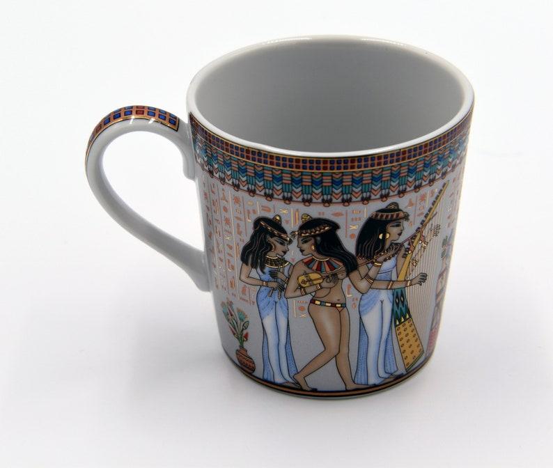 Egyptian Coffee Mug  features pharaohs design of Musicians image 0