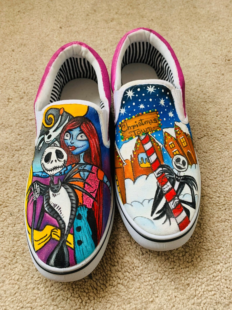 hand-painted shoes for Christmas image 0