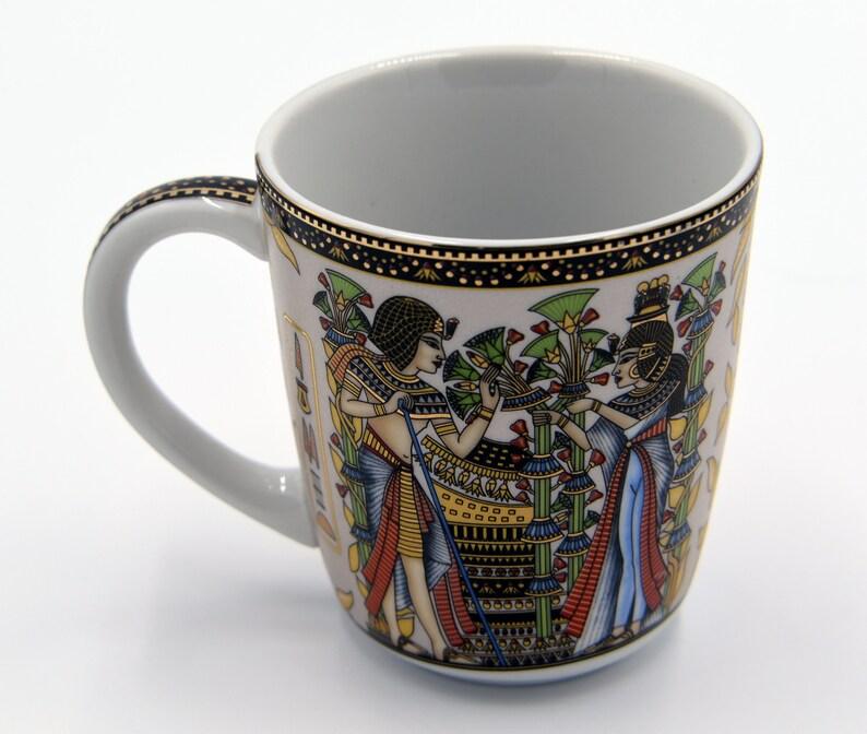 Egyptian Coffee Mug with 2 variant pharaohs designs Tutankhamun-EGP02