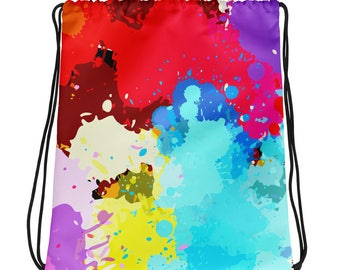 Drawstring bag ( color splash)
