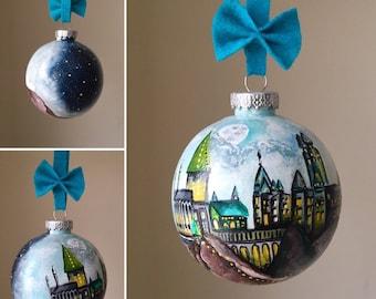Hand-painted ornaments/ custom ornaments / handpainted/ personalized ornaments/ christmas ornaments.