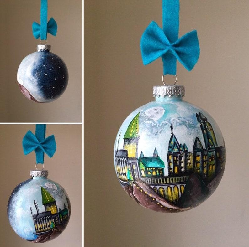 Hand-painted ornaments/ custom ornaments / handpainted/ image 0