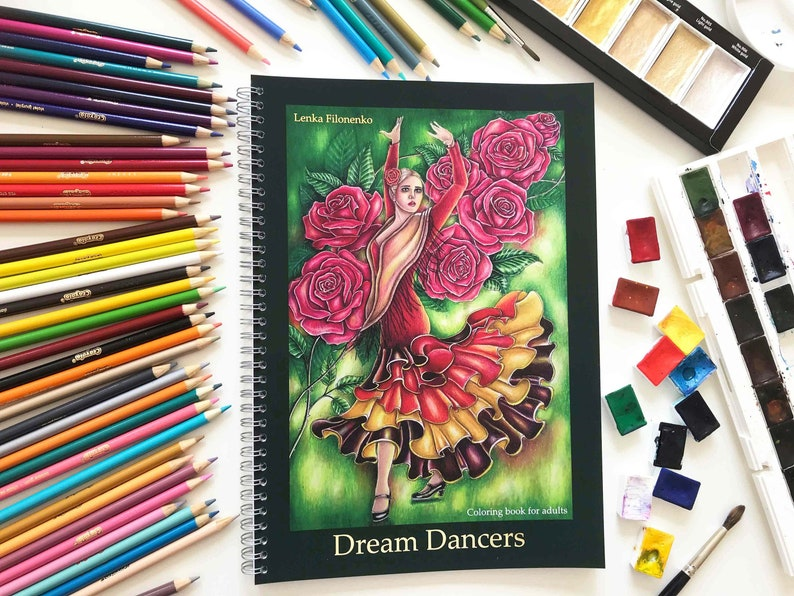 Coloring Book for adults Dream Dancers Coloring for grown image 0