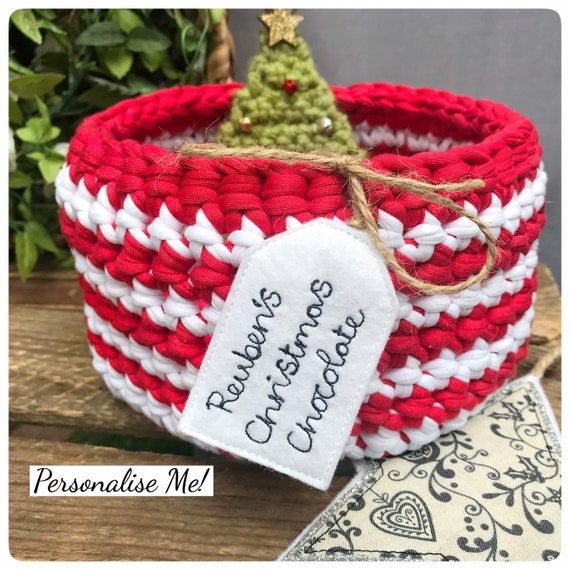 Christmas Basket With Personalised Tag | Christmas Eve Box | Christmas Eve Basket | Christmas 2020