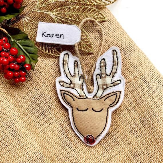 Personalised Reindeer Christmas Tree Decoration