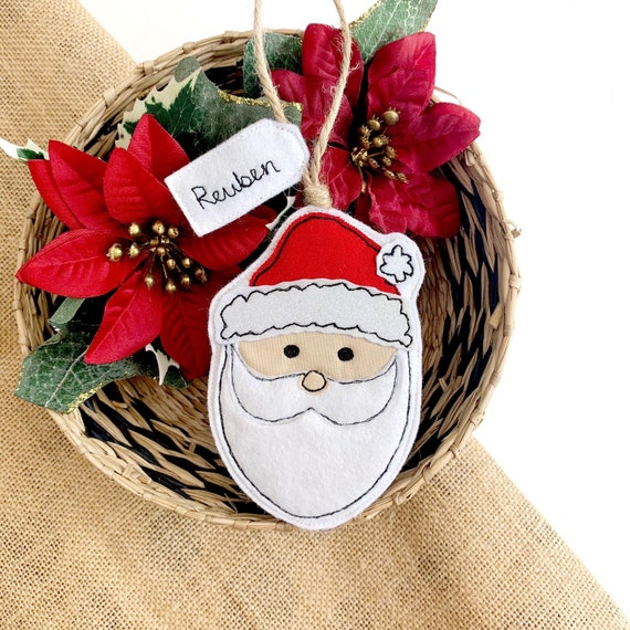 Personalised Father Christmas Tree Decoration