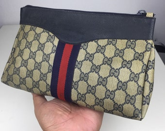 ff8ef2022f2 90s Vintage Clutch Bag with Monogram Gucci GG Vintage Collection without  Stamping and Tag