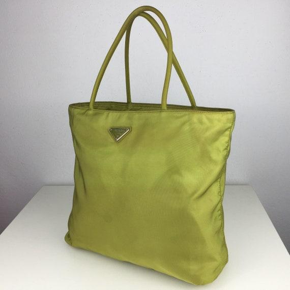 RARE Authentic PRADA Straw Nylon Vintage Rare Green Apple 4e49abdf83c47