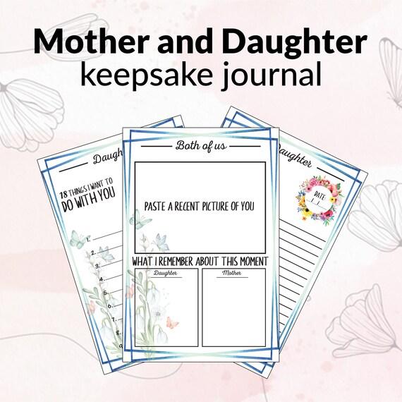 Mother and daughter keepsake journal  Printable Keepsake