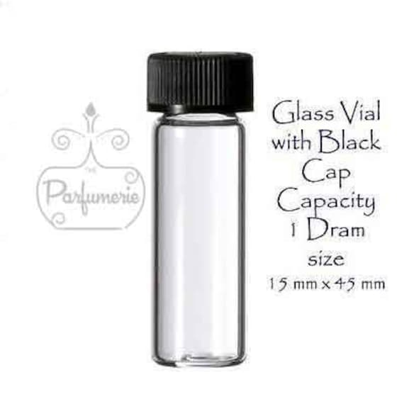 Pack of 100 China 1 Dram Clear Glass Vials