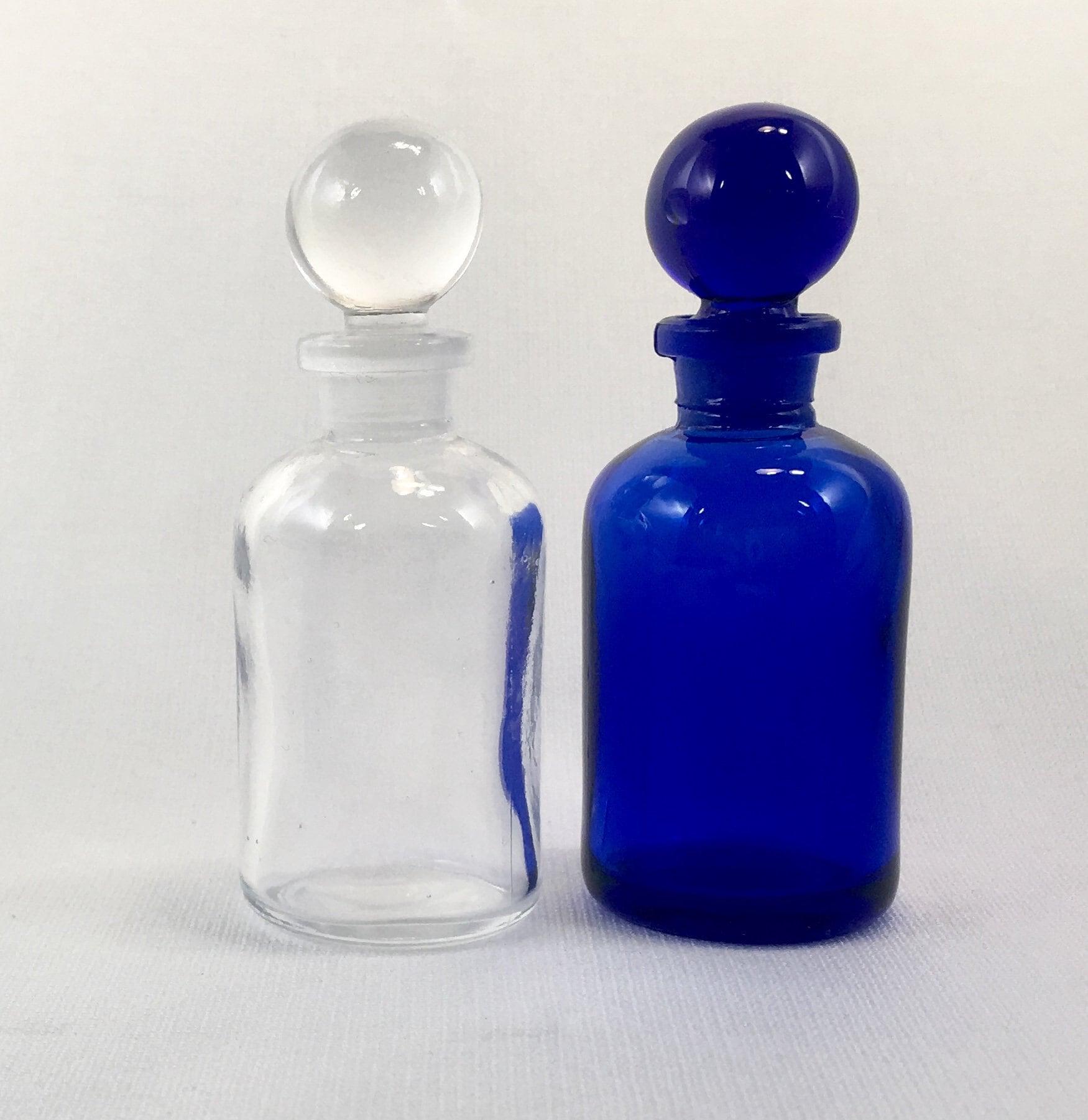 1 oz verre APOTHICAIRE bleu cobalt ou bouteille transparente