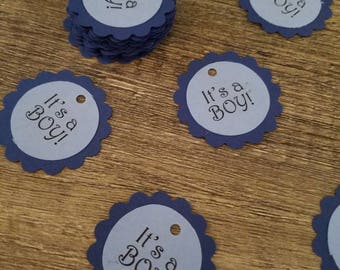 It's a BOY! baby shower/gender reveal party favor tags