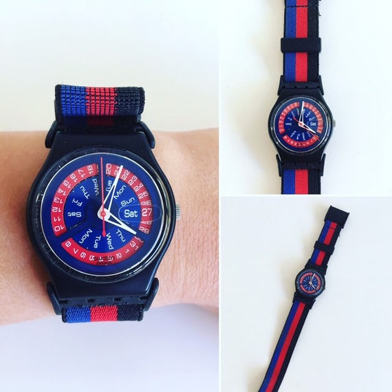 Swatch watch, horloge, Suspenders.