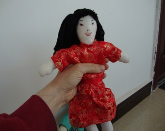 Chinese Girl Doll with Handmade Clothes