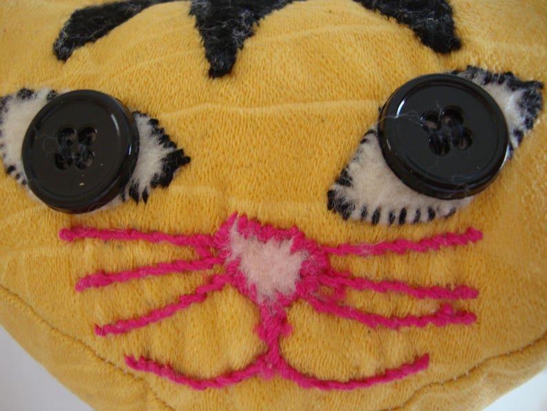 Kitty Cat Striped Plush Stuffed Animal Doll