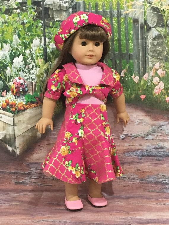 "/""Spirale/"" Fashion Pattern for American Girl Dolls"