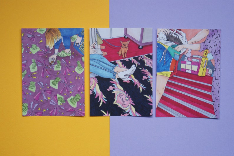 A6 Postcard Set British Seaside Retro Penny Arcade