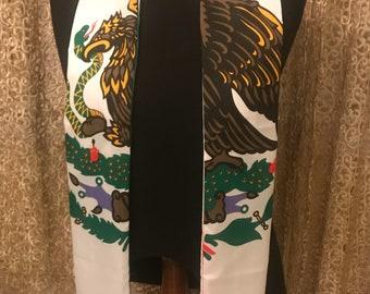 Mexico flag print sash